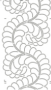 Quilting Creations Feather Border for Use with 422QC Quilt Stencil, 20cm