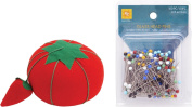 HOLIDAY RELEASE! Glass Head Multicolor Pins with Original Tomato Pin Cushion