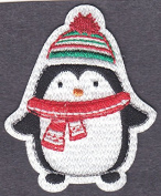 PENGUIN - ARCTIC ANIMAL - WINTER - CHRISTMAS - Iron On Embroidered Patch