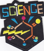 """SCIENCE"" PATCH-Iron On Embroidered Patch/School, Learning, Chemistry"