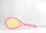 ID #1559 Pink Tennis Racket Racquet Sports Embroidered Iron On Applique Patch