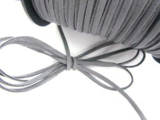 US seller Roll of 100 yards Leather Suede Cord 3mm Trim/Trimming T163-Grey