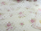 10 yard Non-Elastic White Soft Floral Lace 1.9cm Wide Trim/Sewing/Decoration T198 US Seller Ship Fast