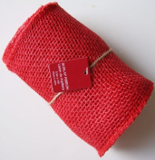 14cm Wide 4.6m Long Woven Fabric Burlap Craft Ribbon Roll - Red