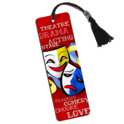 Theatre Drama Masks Printed Bookmark with Tassel