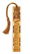 Author - Kurt Vonnegut Engraved Wooden Bookmark with Tassel