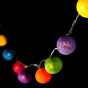 Blaze On Ambient Ball Fairy Lights Rainbow Coloured 10 LED - Free 1 Year UK Guarantee & UK Technical Support