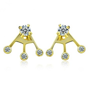 Miss Chopin Sterling Silver Four CZ Stone Ear Jackets Multi-Colour Available