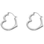 14k Gold Heart Shaped Hoop Earrings