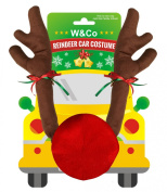 W & Co Car Reindeer with Jingle Bells Costume Reindeer Christmas Car Character Kit Party Accessory