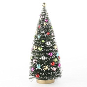 Frosted & Decorated Mini Green Sisal Christmas Tree 22cm Tall