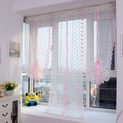 Voberry® 100x800cm Flower Colour Tulle Roamer Door Window Curtain Drape Panel Sheer Scarf Valance Joli Gift