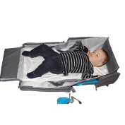 Baby Travel Bed By ElanBambino- Change Mat, Bassinet and Nappy Bag. Your Baby and You Will Love This 3 in 1 Organiser. Tonnes of room for Nappies, Milk and Food. BONUS