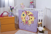 BabyMink Luxurious Baby Crib Sherpa Blanket with Pink Cuddly Bunny