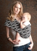 Seven Everyday Slings Infant Carrier Baby Sling Solitaire Black Size 5 Large