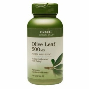 GNC Herbal Plus Olive Leaf 500mg, Capsules, 100 ea