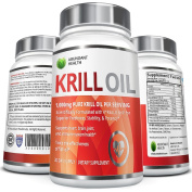 Pure Antarctic Krill Oil with Astaxanthin and K-REAL® - 1,000mg per serving - 60 Liquid Softgels - Contains DHA & EPA Omega 3s and Phospholipids - Sustainably Sourced and Third Party Tested for Maximum Freshness - Made in the USA in GMP Facility