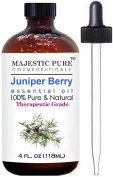 Juniper Essential Oil From Majestic Pure, Extracted From Berry, Therapeutic Grade, Pure and Natural, 120ml