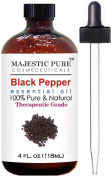 Black Pepper Essential Oil From Majestic Pure, Therapeutic Grade, Pure and Natural, 120ml