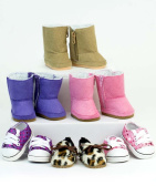 46cm Doll Shoes, 6 Pack of Boots and Shoes for Dolls, Sophia's Doll Accessories