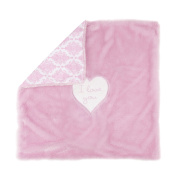 Wendy Bellissimo Travel Blanket and Strap Cover Set-Pink