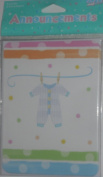 Baby Clothes Baby Birth Announcement Cards - Pack of 8