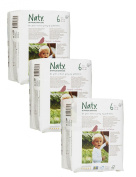 Pack Of 3 Naty XL Nappies (Size 6) 54 Nappies