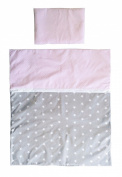 Vizaro - Quilt & pillow for Moses Basket - 100% Luxury Cotton - Polka Dots and Stars - Tested against harmful substances - Made in EU