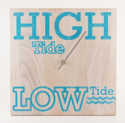 Tide Clock - Wood Distressed White - Handmade - Beach Lover