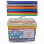 Soft N Style Soft 'N Style 60 Piece Rubber Rod Set