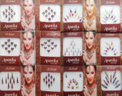 Banithani 12 Pcs Full Packets Bindis Indian Designer Temporary Tattoos Stickers
