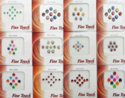 Banithani 12 Pcs Packets Exclusive Indian Designer Bindis Temporary Tattoos Stickers