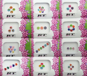 Banithani 12 Pcs Bindis Packets Exclusive Indian Designer Temporary Tattoos Stickers