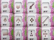 Banithani 12 Pcs Full Packets Assorted Indian Bindis Designer Forehead Sticker Tattoo