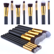 Ardisle 8pc Kabuki Style Professional Make up Brush Set Foundation Blusher Face Powder