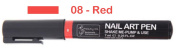 Nail art Pen - Red - Shake, Pump & Use DIY Nail Art, Nail Design Pen