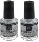 INM Northern Lights Hologram Silver Top Coat 2x