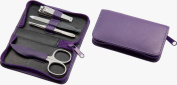 Sonnenschein Exclusiv - Germany Travel Leather Manicure Set Lilac