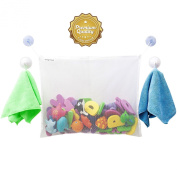#1 Rated Bath Toy Organiser - Large Storage Basket for Baby Boys and Girls with 2 Extra Strong Suction Cups - Strongly Suctions to Tile and Glass - Washable Mould Resistant