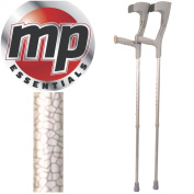 MP Essentials Folding Funky Pattern Forearm Medical Stabilising Crutches - Pair