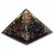 Mixed Gemstone Orgone Pyramid Healing Orgonite Energy Generator Chakra Reiki
