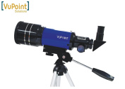 Refractor Astronomical Space Telescope for Viewing Stars, Planets, The Moon, VuPoint Telescope F300/70 - Blue. Ideal for Kids / Children or Beginners