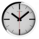 OLIVER HEMMING DUPLEX 303MM CHROME STEEL WALL CLOCK WIDE RIM