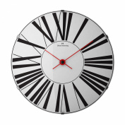 OLIVER HEMMING VITRI 370MM DOMED GLASS WALL CLOCK