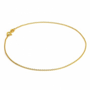 18ct Yellow Gold Dipped Sterling Silver Fine Trace Chain Anklet