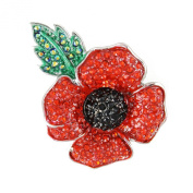 Angelys 4 Petal Large Poppy Brooch