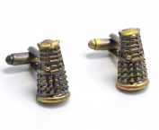 DR WHO Inspired Dalek Cuff Links Rose Tyler Super Villain Cufflinks