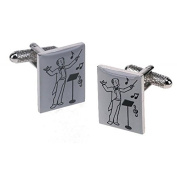 Onyx-Art Musical Conductor Cufflinks