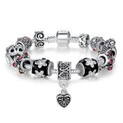 Christmas Gift 15% off Presentski Fashion Jewellery European 925 Sterling Silver Plated Frog Charm Bracelet for Women Man Girls