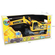 The Little Bus Tayo Heavy Equipment Freind FOCO / POCO Excavator Play Set Toy - Friction Power
